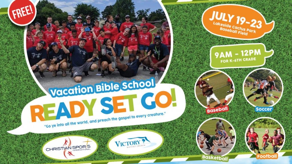 VBS Vacation Bible School Sports Camp